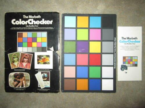 Vintage 1977 The Macbeth ColorChecker Color Rendition Chart, photography video
