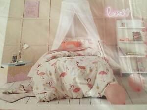 Double bed Quilt Civer set - Flamingo Fiesta Bentleigh East Glen Eira Area Preview