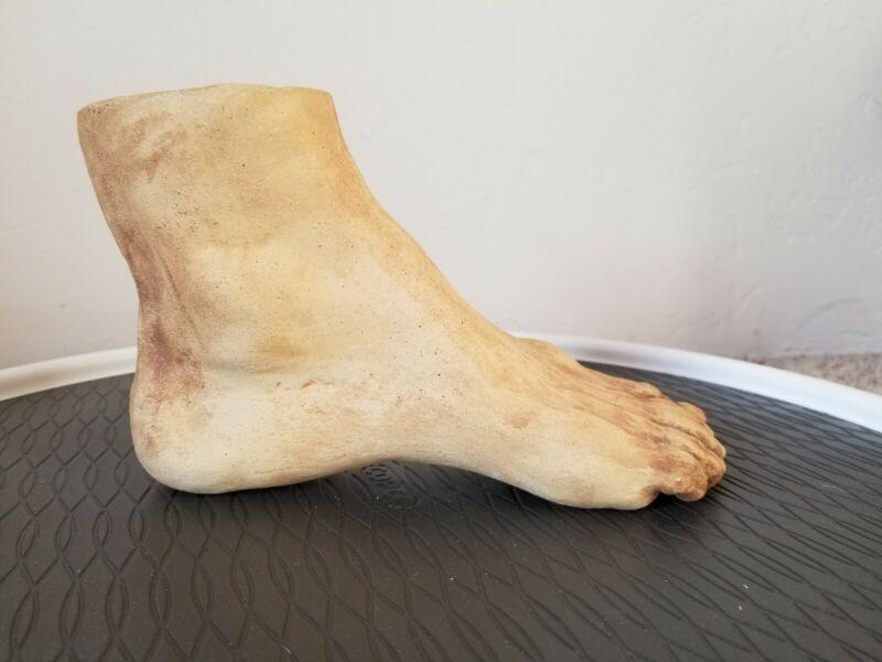 Etruscan Terracotta Pottery Anatomical Votive Foot Body Part Vase
