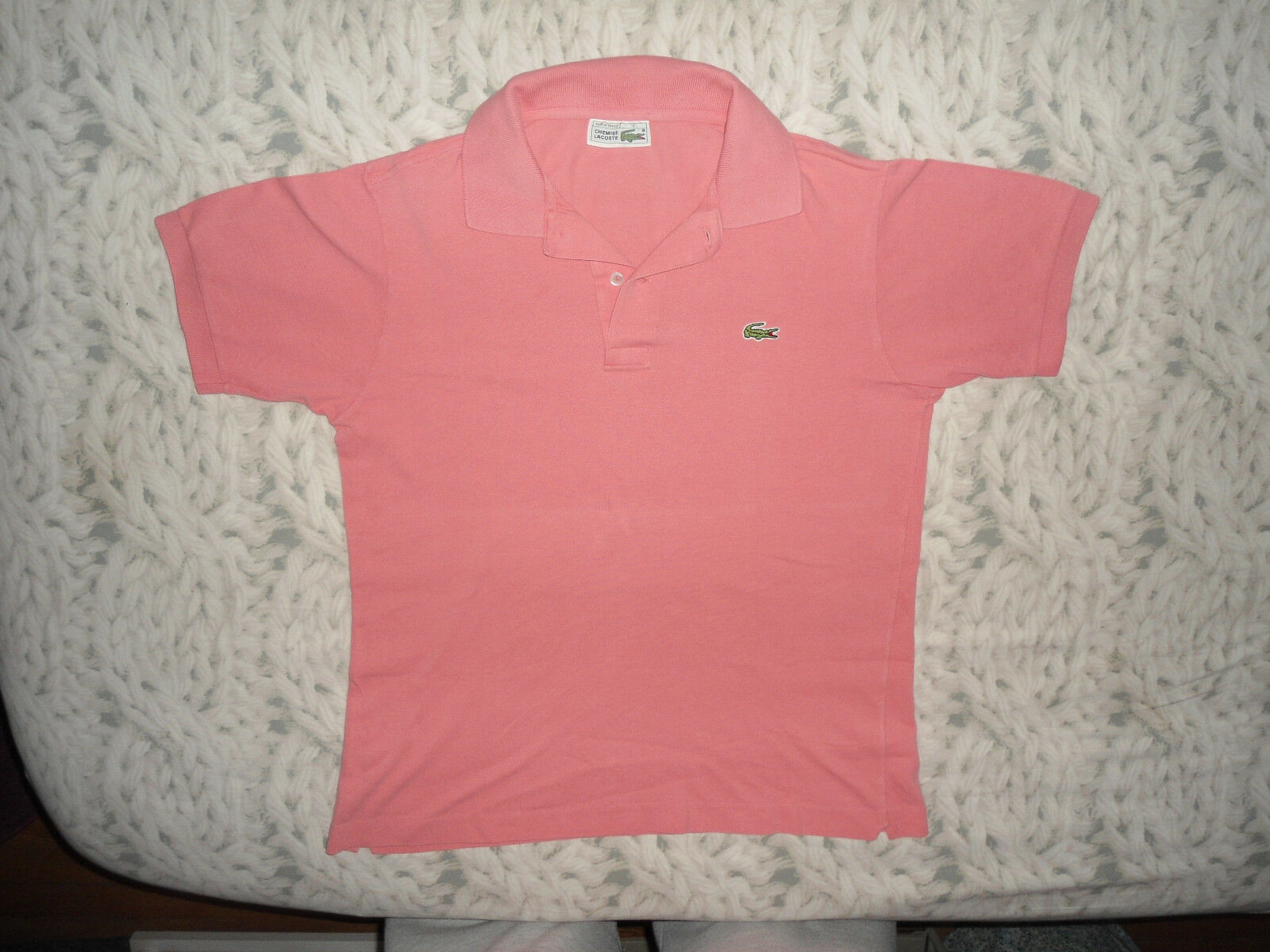 Polo lacoste homme taille 3 s rose superbe etat !