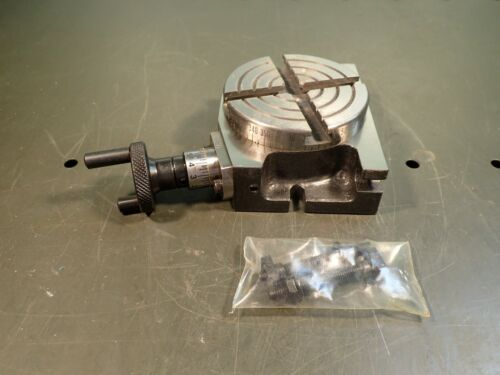 """Micro-Mark 84755 3"""" Vertical & Horizontal Milling Rotary Table index to 1/20 deg"""