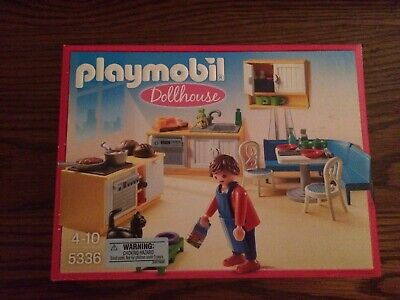 Playmobil 5336 Modern Country Kitchen for Dollhouse New in Box!