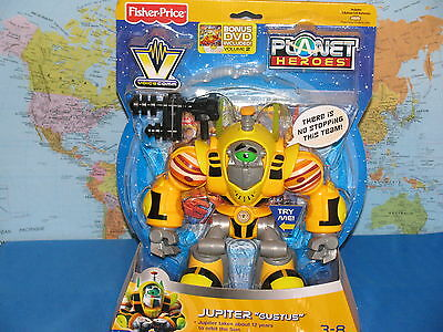 FISHER PRICE PLANET HEROES JUPITER GUSTUS VOICE LIGHT ***BRAND NEW & RARE***