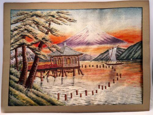 Silk Embroidery Japanese -- Mt Fuji