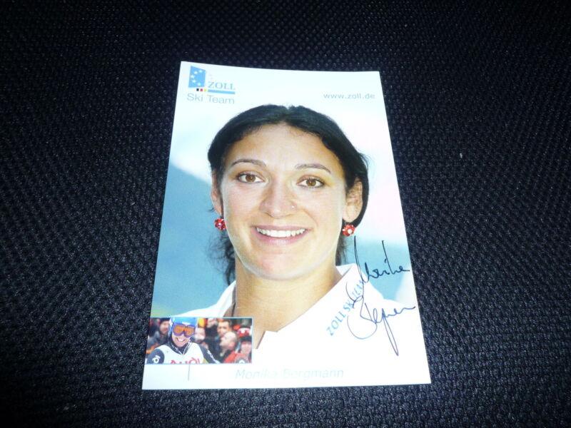 MONIKA BERGMANN  signed Autogramm  10x15 cm WELTMEISTERIN SLALOM