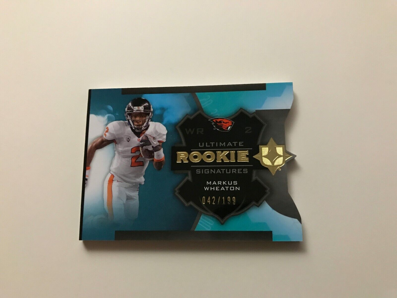 2013 UPPER DECK ULTIMATE COLLECTION MARKUS WHEATON RC AUTO 42/199 BOOKLET - $4.99