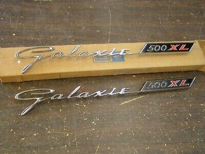 NOS OEM Ford 1962 Galaxie 500 XL Quarter Panel Emblems Ornaments Scripts Pair