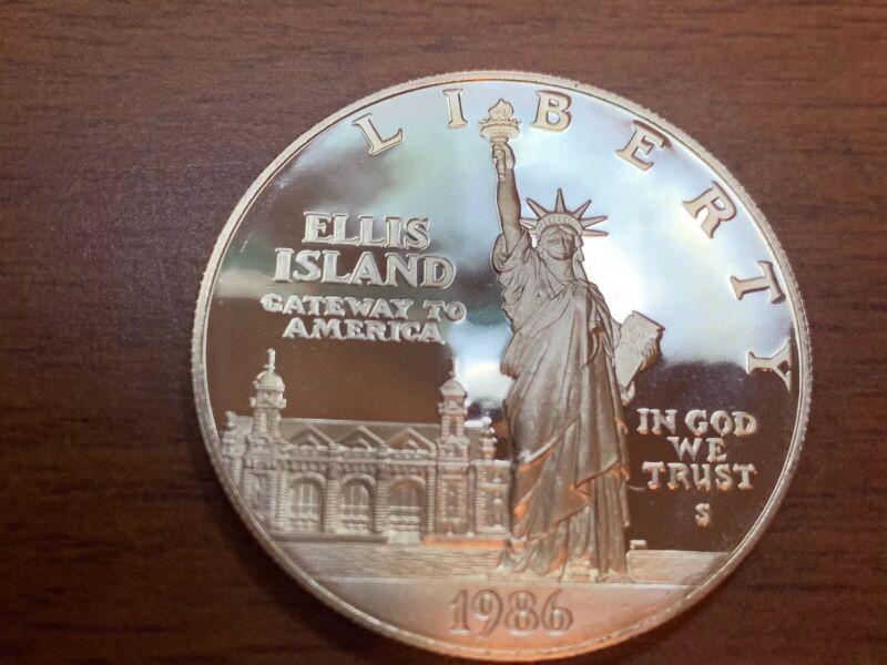 Proof 1986 Statue of Liberty Centennial Commemorative 90% Silver Dollar
