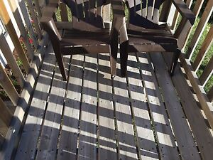 USED 5/4 ROUND PRESSURE TREATED DECK BOARDS