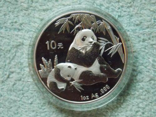 2007 Chinese Silver Panda 10 Yuan 1 OZ BU