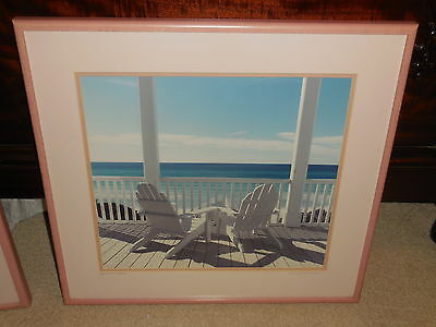 """Original signed framed Color Photograph printed by  Nels Johnson """" Seachairs"""""""
