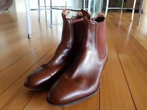 RM WILLIAMS BOOTS MALE YEARLING CHESTNUT BROWN SIZE 8G