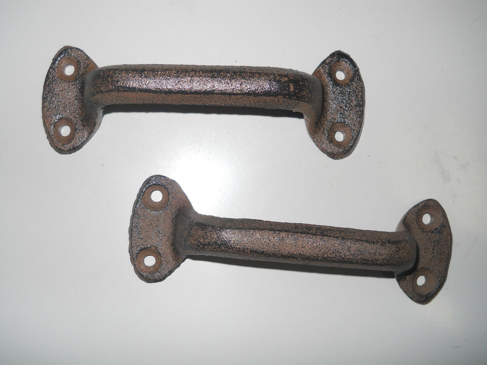 1 Cast Iron Antique Style RUSTIC Barn Handle, Gate Pull, Shed / Door Handles HD