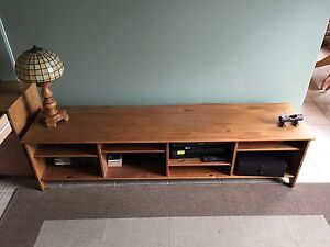 Solid pine Ikea tv console and entertainment unit