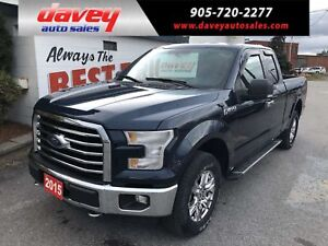 2015 Ford F-150 XLT 4X4, QUAD CAB, 6.5 FT BOX WITH LINER