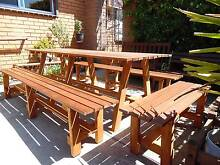extra,extra large outdoor setting made from merbau timber Edithvale Kingston Area Preview