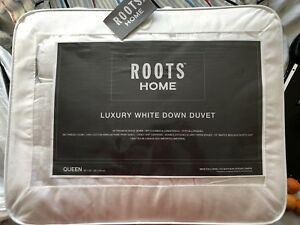 Roots queen size white down duvet