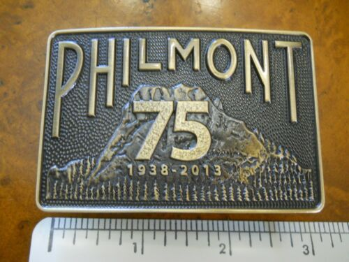 PHILMONT SCOUT RANCH 75TH ANNIVERSARY BELT BUCKLE, 1938-2013 (NEW IN PACKAGE)