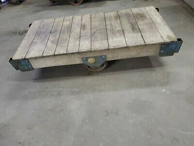 Wood Factory Cart Good For Its Original Use Industrial Dcor Coffee Table