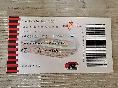 Ticket AZ - Arsenal FC Friendly 2006
