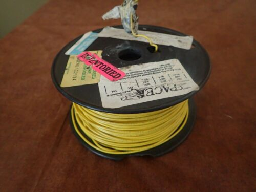 22AWG Gauge Tinned Stranded Hook Up WireYellow 450 ft