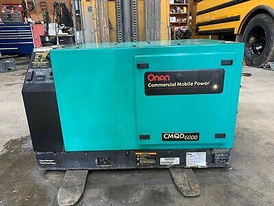 Cummins Power Generator 6kw 9287 Hours Cummins Onan Commercial Cmqd 6000