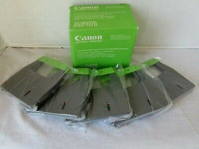 Box Of 5 New Vintage Canon Ap01 Film Ribbon Cassettes For Electronic Typewriter