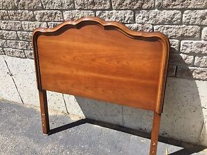 Single bed headboard in solid cherry