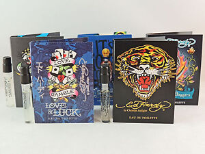 ED HARDY FOR MEN 1.5ml .05fl oz COLOGNE SPRAY SAMPLE VIAL MINI LOT TRY ALL 5
