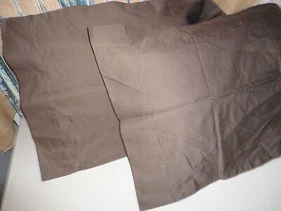 Veratex Brown Umber Sateen 800 Thread Count  Pair  King Pillowcases 20 X 38