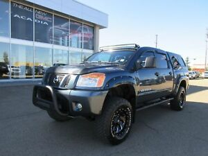 "2014 Nissan Titan PRO-4X-LIFT, 50"" LIGHT BAR, PUSH BAR, 18"" TIRE"