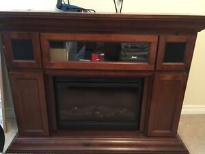 Musoka Electric Fireplace with audio speakers