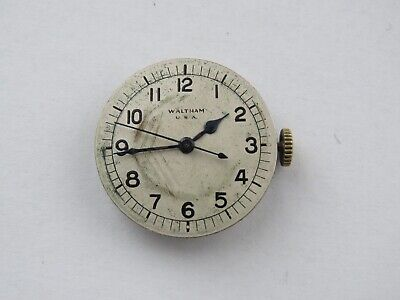 Rare 18 jewel Sweep Second Waltham Manual Wind Complete  Watch Movement