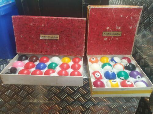 Full Set Snooker And Pool Balls. 1 7/8