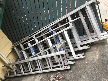 Builders ladders planks scaffold extension trestles  Springwood Logan Area Preview