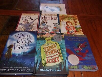 Lot of 7 children books~Bestsellers~Three Times Lucky~Mary Poppins~Matilda+