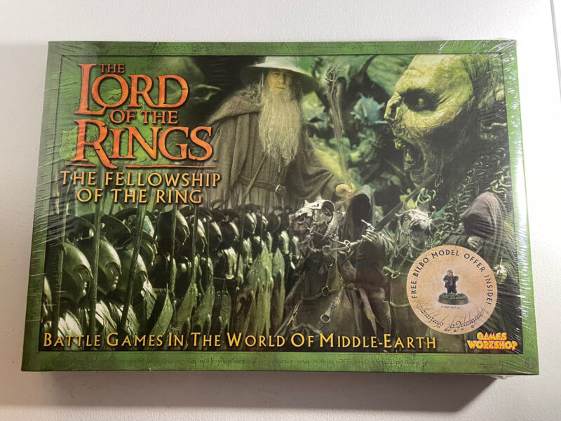 Lord of the Rings Fellowship- Games Workshop *Sealed* Battle Strategy Game 2001