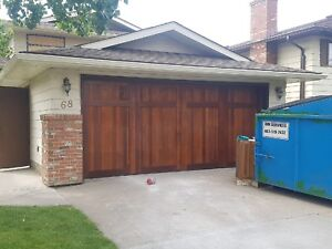 16 x 7 Carriage Cedar Garage Doors. Installed but never used!
