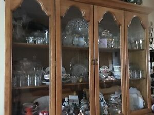 For Sale! Beautiful Nice Solid Wood China Cabinet Hutch