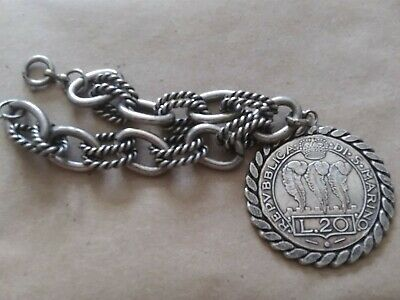 the coins are dated 1988 please see description Coin Bracelet Vintage Silver