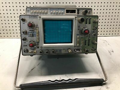 Vintage Tektronix 475a Dual Trace Bandwidth Oscilloscope Ibm Owned Ultra Rare