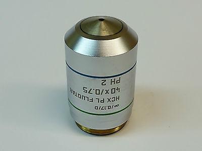 Leica Hcx Pl Fluotar 40x0.75 0.17d Ph 2 Microscope Objective Pn 506145