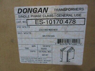Dongan Transformer Es-10170-478 Pri Volts 220380400416 Sec Volts 95115120