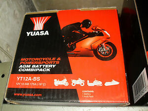 Batteria-Yuasa-YT12A-BS-TUONO-RSV4-PANTHEON-2T-SLR-NTV-ER6-Z1000-LIBERTY-RST-200