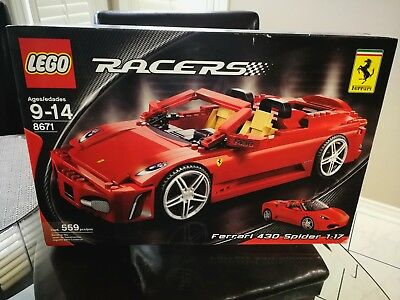 Used, NEW and RARE! Lego 8671 Racers Ferrari F430 Spider 1:17 for sale  Mississauga