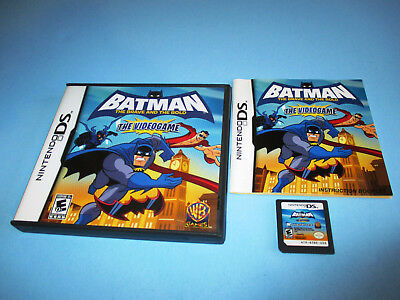 Batman: The Brave and the Bold Nintendo DS Lite DSi XL 3DS 2DS w/Case &