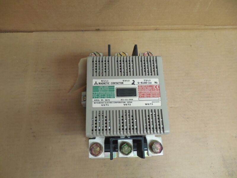 MITSUBISHI CONTACTOR S-K180 QM 260A A AMP 100-127V COIL SK180QM # 2