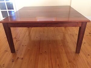 Jarrah Dining Table (square) - 8 Chairs & Lazy Susan Camden Park West Torrens Area Preview