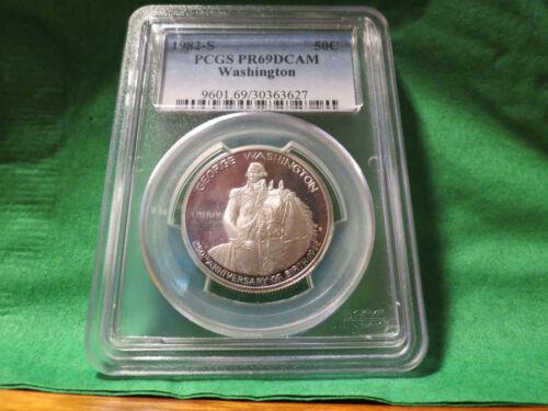 1982 S Silver Proof Washington Commemorative Half Dollar PCGS PR 69 DCAM