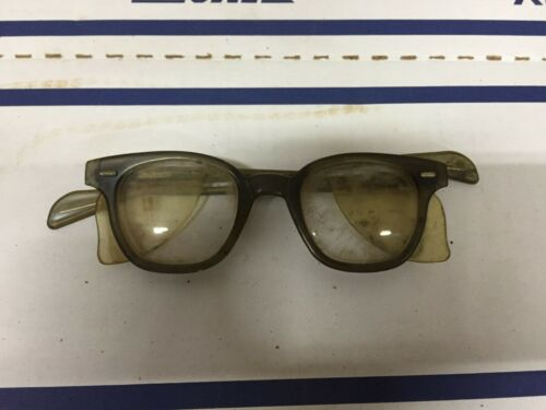 Vintage old antique welsh glasses safety? 5 3/4 side shields steampunk rare